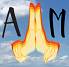 Pair of praying hands logo
